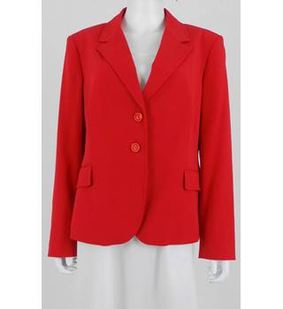 M&S Size 16 Scarlet Red Blazer