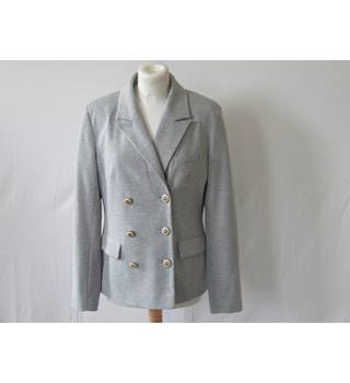 Fusion By Monsoon Ladies Light Grey Blazer Monsoon - Size: 14 - Grey - Smart jacket / coat