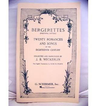 Twenty Bergerettes (French pastoral ditties of romance & song) of 18C