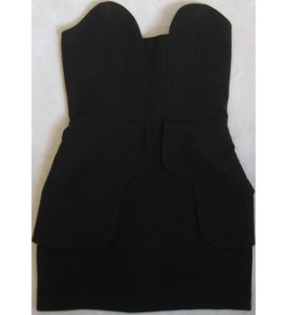 Aqua black strapless peplum Camilla mini dress size 4 Aqua - Size: 4 - Black - Strapless dress