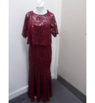 M&S Marks & Spencer - Size: 12 - Burgundy - Long dress