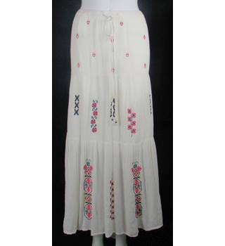 BNWT - Monsoon - Size: 22 - Ivory - Long Embroidered Prairie Skirt