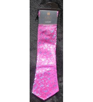 M&S Marks & Spencer Luxury Collection - Size: One size - Fine Silk Tie