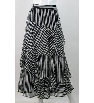 BNWOT - M&S Marks & Spencer - Size: 16 - Black and Ivory - Layered Gypsy skirt