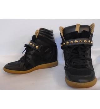 Zara - Size 37 - High Top Wedge Trainers
