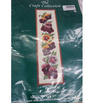 The Craft Collection Pansies Cross Stitch Kit