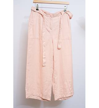 "New without tags - M&S pink linen trousers - Size 12 regular M&S Marks & Spencer - Size: 34"" - Pink - Trousers"