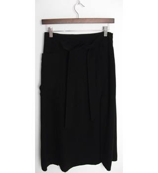 WHISTLES Black Calf-Length Skirt UK Size 10 / Euro Size 38