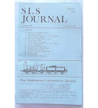 Railway memorabilia: Stephenson Locomotive Society Journal volume 49 1973