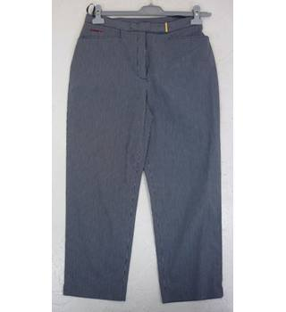 "Ralph Lauren Size: 12, 29"" W, 24"" L  Dark Blue & White Small Check Casual/Stylish Cotton & Nylon Stretch Designer Jeans"