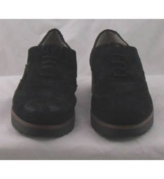 M&S Collection, size 4 black suede wedge heeled brogues
