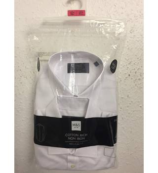 M&S Men's white shirts