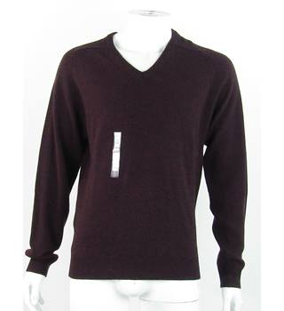 NWOT - M&S Collection - Size: S - Wine Red - 100% Extra Fine Lambswool - Jumper