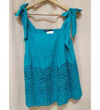NWOT M&S Marks & Spencer - Size: 14 - Turquoise Blue - Sleeveless top