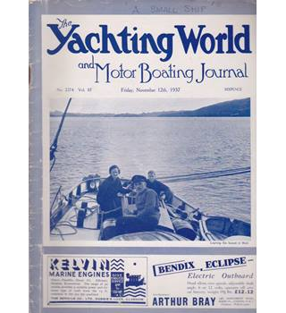 The Yachting World and Motor Boating Journal (10 issues from 1937/8)