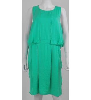 Whistles Size: 16 Caribbean Green Sleeveless Dress