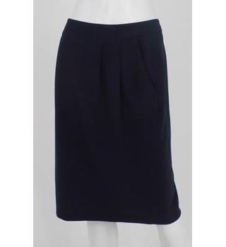 NWOT Autograph Size 8 Navy Pencil Polyester/ Wool Mix Skirt