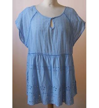 NWOT M&S Collection Size: 16 - Blue with Lace Detailing Blouse