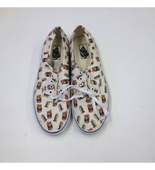 Vans Canvas Trainers - Size: 10.5 - Cream / ivory - Skate shoes
