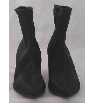 NWOT M&S Collection, size 7 black satin effect ankle boots