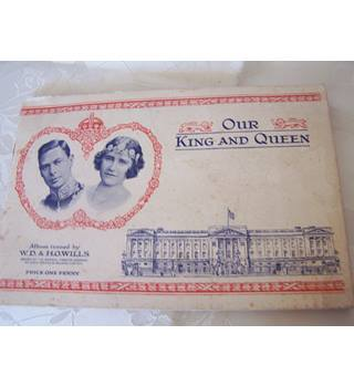 1937 Vintage, Our King & Queen Full Set of Cigarette Cards in Album