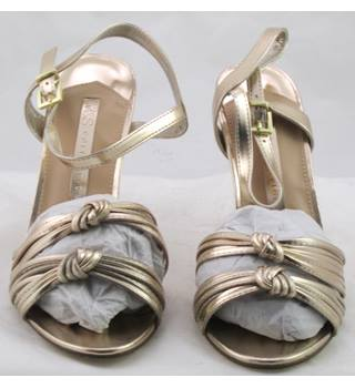 NWOT M&S Collection, size 5.5 gold high heeled evening sandals