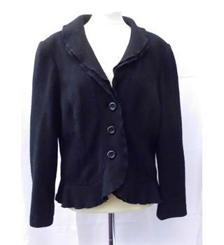 Long Sleeve Jacket Viyella - Size: 12 - Black - Jacket
