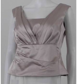 Coast Size 12 Champagne Blush Silky Evening Top