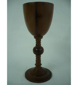 Very fine craftsman turned miniature goblet or egg cup