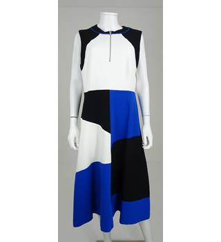 NWOT M&S Collection Size: 16 Black, White & Cobalt Blue Block Colour Dress