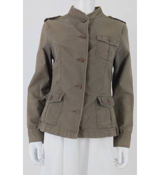 Phase Eight Size: 12 Sand Brown Military Inspired Jacket