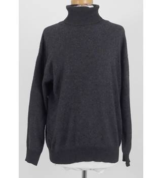 CF Size M Grey Roll Neck Soft Pure Cashmere Jumper