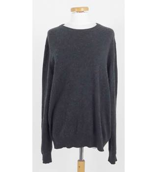 Uniqlo Size L Grey Round Soft Pure Cashmere Jumper