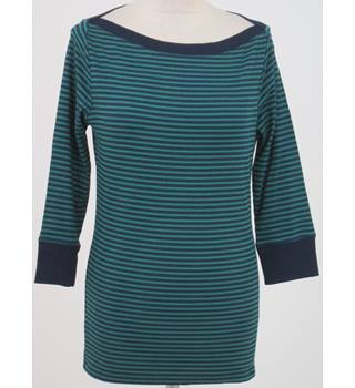 BNWT Tu, size 18 navy & green striped 3/4 length sleeved top