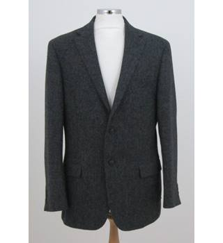 "M&S Marks and Spencer : 42"" / Long - Charcoal Grey - Single breasted suit jacket"