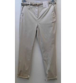 Per Una Rose Rise Chinos - Size 8, Short, Neutral