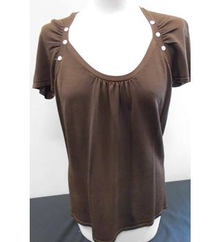 Principles - Size: 14 - Brown - Cap sleeved Top