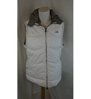 Nike - Size: 14-16 White and Grey Reversible Hooded Gilet