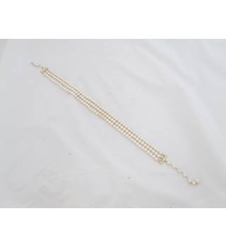 Ladies Glass Pearl Bracelet Unbranded - Size: Medium - Cream / ivory