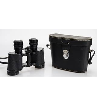 PHILO COATED OPTICE - VINTAGE BINOCULARS - 8 X 30 FIELD - WITH HARD CASE