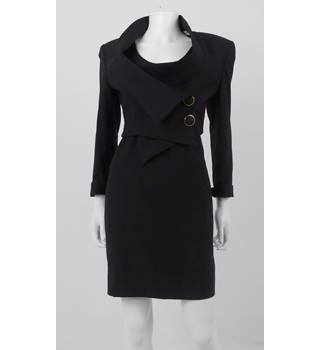 Vintage circa 80's Black Suit Dress Gianfranco FERRE  Size: 12  Black