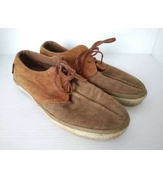 Vans suede lace up Vans off the wall - Size: 6 - Brown