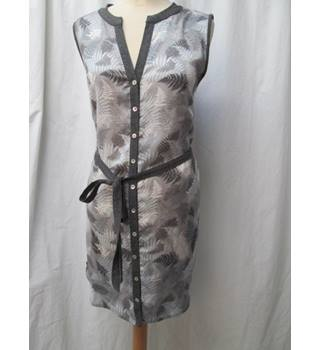Laura Ashley Grey Sleeveless tunic top/dress size 12