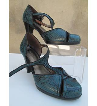 M&S Marks & Spencer  Size: 3 Turquoise  Blue T bar Court shoes