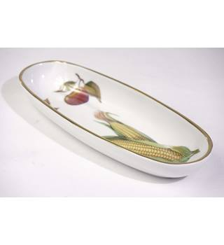 Evesham Gold Corn on the Cob Small Oval Dish by Royal Worcester Oven to Tableware