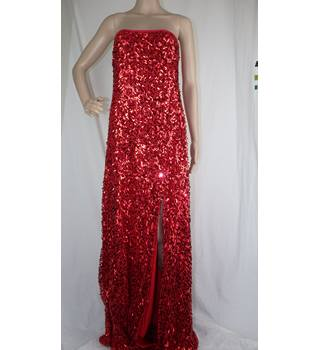 Long Red Sparkly Dress Size: 14 KDK London - Size: 14 - Red
