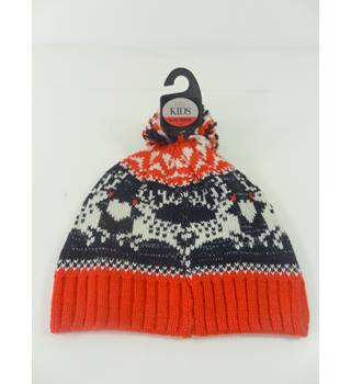 NWOT M&S Kids Age 3 to 6 Years Reindeer Bobble Hat