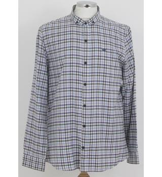 River Island l'ART Size: XL  Blue Black and White check long sleeved shirt