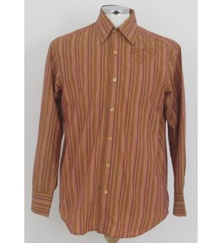 Ron Chereskin Size: S Orange and Yellow striped long sleeved shirt