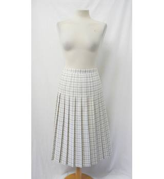 Honor Millburn at EWM - Size: 14 - Beige and white - Checked skirt